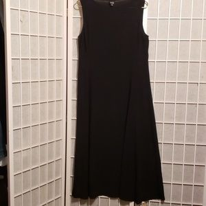 Eileen Fisher Silk Black Sleeveless Maxi Dress/S